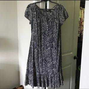 Eddie Bauer Floral Batik Dress XL